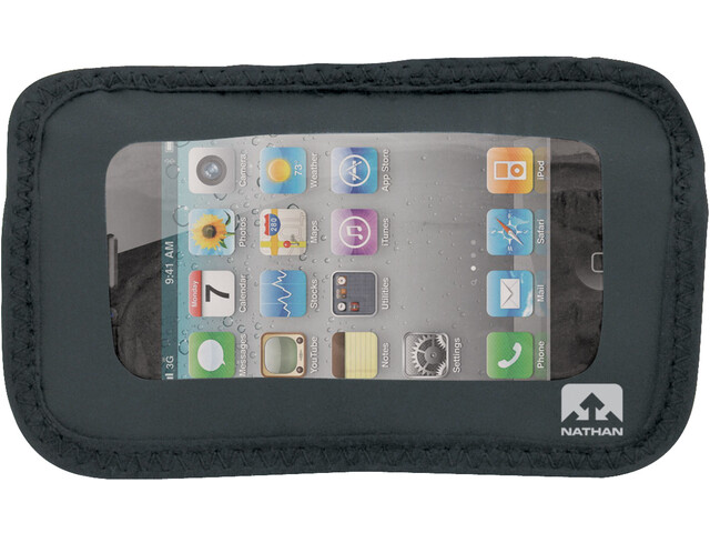 Nathan Weather-Resistant Phone Pocket, nero/trasparente
